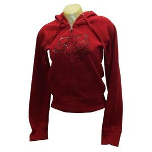 Ladies small FOX riding co. Zip up hoodie